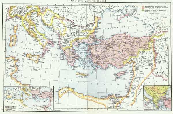 Karte Oströmisches Reich