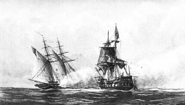 USS Enterprise besiegt tripolitanischen Korsaren 1801