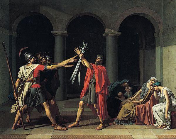 Der Schwur der Horatier von Jacques-Louis David