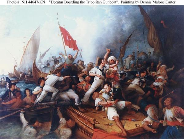 Enterung eines tripolitanischen Korsarenschiffes