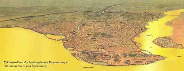 Rekonstruktion des byzantinischen Konstantinopel