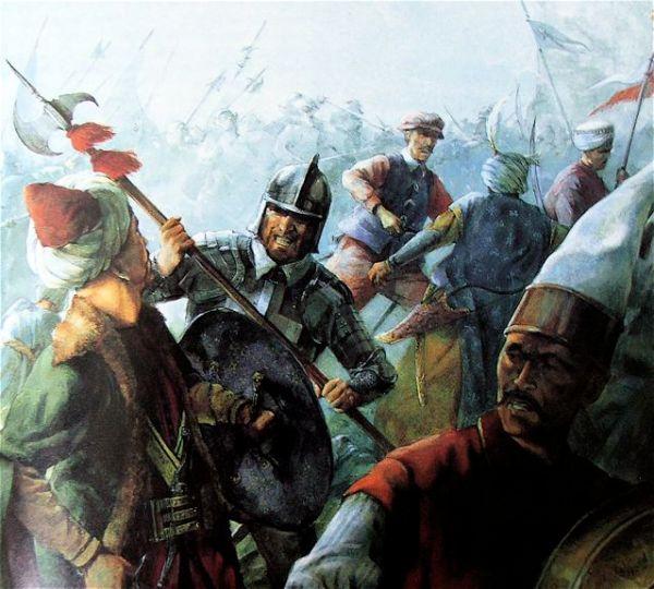 13 Ritter und Malteser treiben die Türken zum Rückzug
