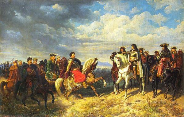 Jan III Sobieski und Leopold I in Schwechat