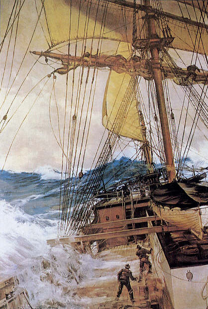 Montague Dawson - Rising Wind