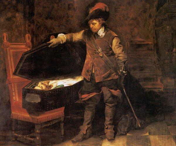 Cromwellvor dem Sarg von Charles I