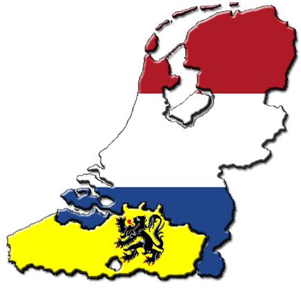 Karte Niederlande mit Flandern