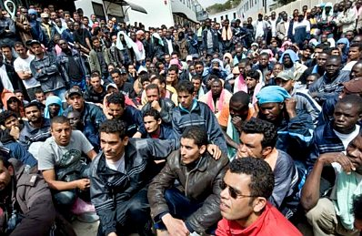 Lampedusa-Flüchtlinge