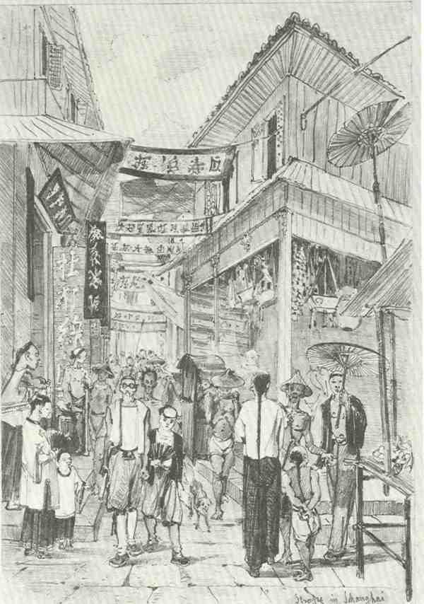 Straßenszene in Schanghai - J-Selleny