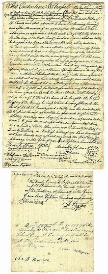 """Indenturformular für den sechsjährigen Evan Morgan, datiert 1823 in Delaware, das ihn für 14 Jahre und 1 Monat zum """"Knecht"""" machte. Wer unterschrieb für ihn?"""