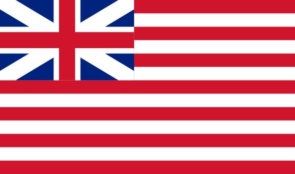 Flagge der East India Company von 1701 bis 1801 (Bild vom Übersetzer eingefügt)