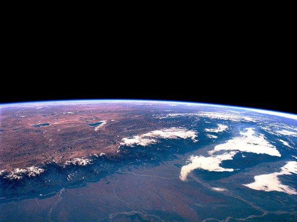 Indien mit Himalaya und Ganges