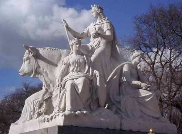 "Patrick McDowell, ""Europe"", Albert Memorial, Kensington Gardens, London."