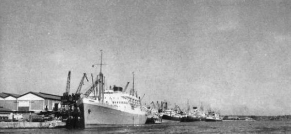 Hafen von Kilindini, 1959.