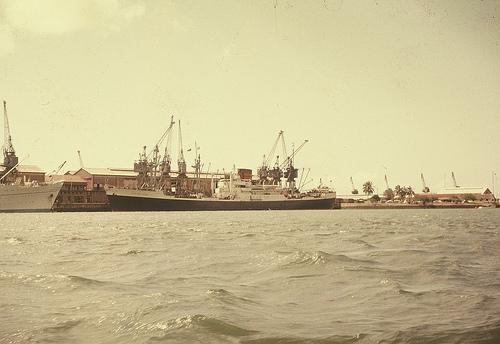 Hafen von Mombasa, 1955.