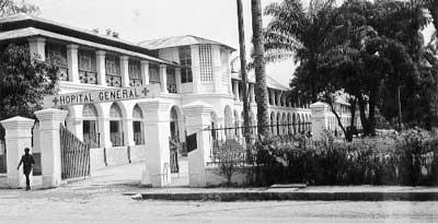 Ein altes Kolonialhospital.
