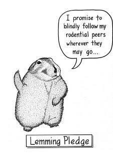 """""""Ich verspreche, meinen Mit-Nagetieren blindlings zu folgen, wohin immer sie gehen mögen…"""""""