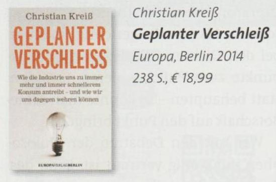 Christian Kreiß - Geplanter Verschleiß
