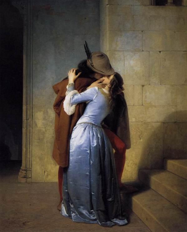 """Francesco Hayez: """"Il bacio"""" (""""Der Kuß""""), 1859"""