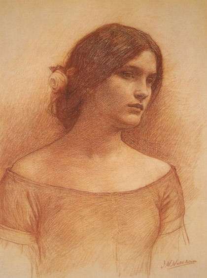John William Waterhouse (1849 – 1917): Study for the Lady Clare