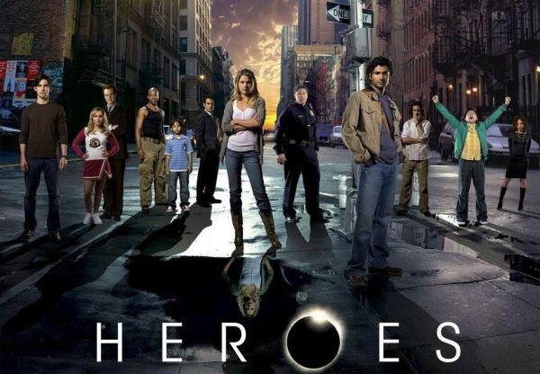 "Die ""Heroes"": Peter Petrelli, Claire und Noah Bennett, D.L. und Micah Hawkins, Nathan Petrelli, Nikki Sanders, Matt Parkman, Mohinder Suresh, Isaac Mendez, Hiro Nakamura, Simone Deveaux."