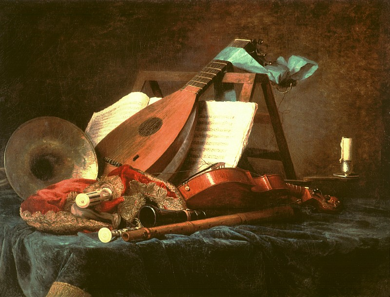 """Anne Vallayer-Coster, """"Attributes of Music"""", 1770"""