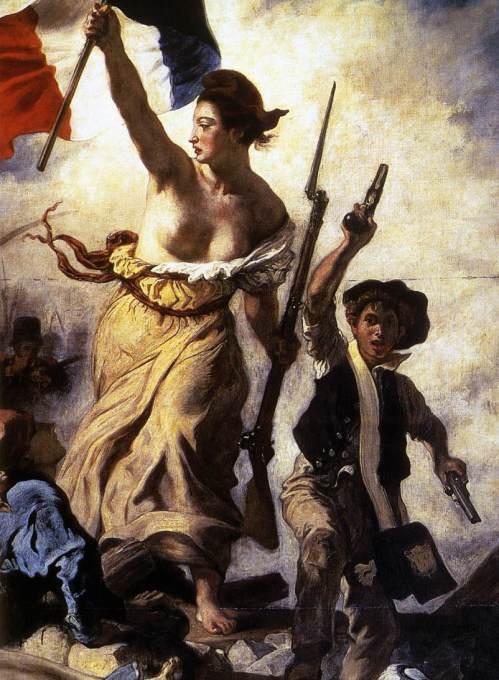 """Eugène Delacroix, """"Die Freiheit führt das Volk"""", 1830 (Detail)"""