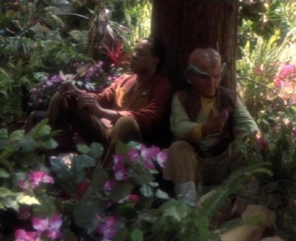 Genervt, wenn auch aus unterschiedlichen Gründen: Benjamin Sisko und Quark (Armin Shimerman).