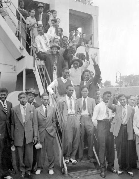 """Auf der """"Empire Windrush"""" nach Großbritannien übersiedelte Jamaikaner"""