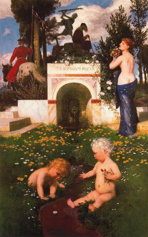 """Arnold Böcklin, """"Vita Somnium Breve,"""" 1888"""