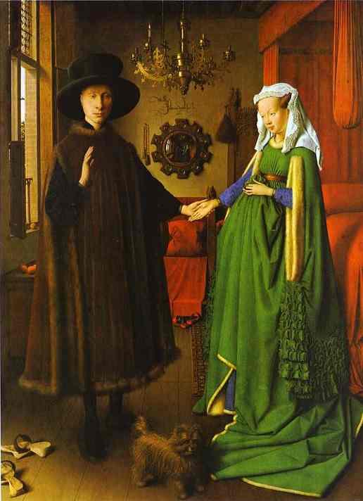 """Jan van Eyck, """"Die Arnolfini-Hochzeit"""", 1434"""