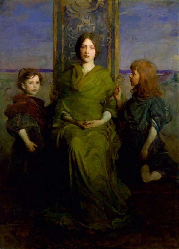 "Abbott Handerson Thayer, 1849–1921, ""Virgin Enthroned,"" 1891"