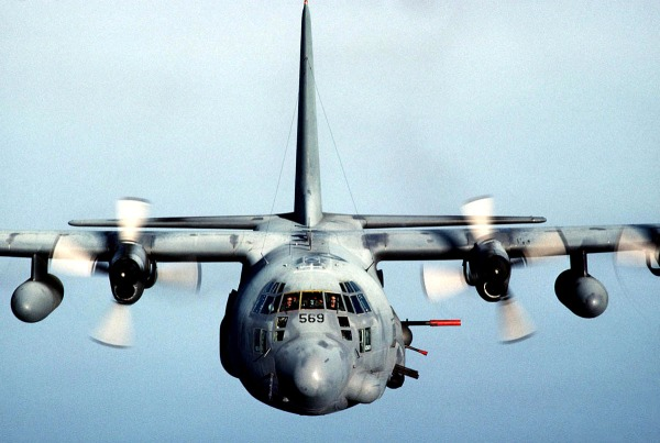 Air Force AC-130 gunships struck al Qaeda targets in Somalia Jan. 8, news sources reported last night. Press reports said the AC-130 attacks hit an area called Ras Kamboni, a heavily forested area near the Kenyan border. The area is allegedly a terror training base. The AC-130 gunship's primary missions are close-air support, air interdiction and force protection. (U.S. Air Force photo)