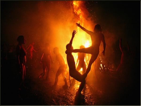Beltane Fire Festival auf dem Calton Hill, Edinburgh