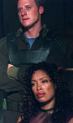 Alan Tudyk & Gina Torres in Firefly