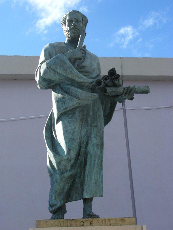 Aristoteles vor der Universität von Thessaloniki, Griechenland.