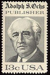 Adolph Ochs – US-Briefmarke 1976