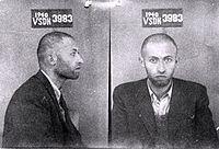 Fahndungsfotos (Sowjetunion 1940) von Menachem Begin (israelischer Ministerpräsident 1977-1983)