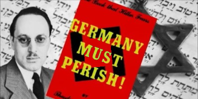 Theodore Kaufmans Buch sprach die Zerstörung des deutschen Volkes schon vor dem Zweiten Weltkrieg aus. Das ganze Buch in englisch findet sich hier, eine deutsche Übersetzung des ersten Kapitels hier.