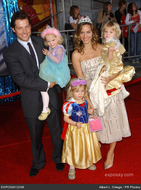 "11/17/2007 - Jamie Bamber and wife Kerry Norton with children - World Premiere of Walt Disney Pictures' ""Enchanted"" - Arrivals - El Capitan Theater - Hollywood, California - Keywords: - - - Photo Credit: Albert L. Ortega / PR Photos - Contact (1-866-551-7827)"