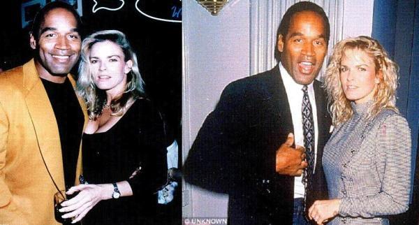 O. J. Simpson, links mit seiner ermordeten Frau Nicole, rechts mit einer Brieffreundin namens Anna, die er während seiner Haftstrafe kennenlernte.