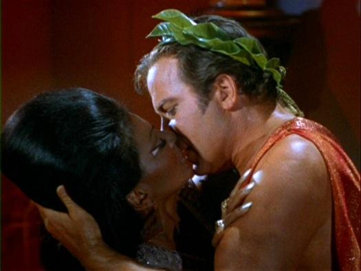 Uhura and Kirk kiss
