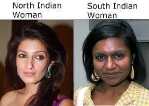 Inderinnen: arische Frau und dravidische Frau.