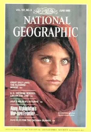 Grünäugiges arisches Mädchen aus Afghanistan.