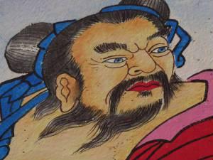 Blauäugiger Mongolenherrscher.