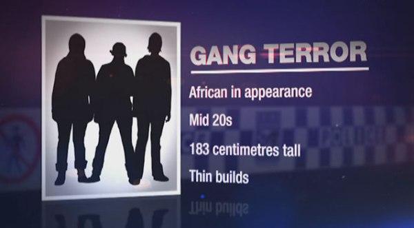 """""""BANDENTERROR: Afrikanisch im Erscheinungsbild; Mitte 20; 183 cm groß; Dünner Körperbau."""""""