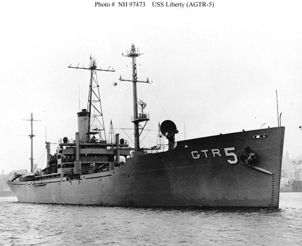 USS Liberty AGTR-5 ca 1965