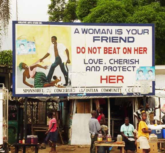 Öffentliches Plakat in Südafrika