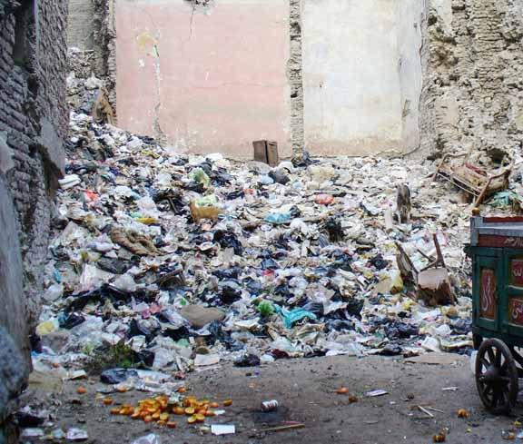 Müllberg im Sudan