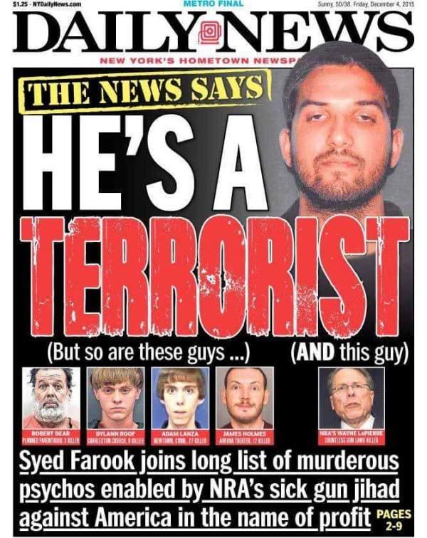"""""""Die Nachrichten sagen, er ist ein Terrorist… aber das sind auch diese Kerle… UND dieser Kerl"""""""
