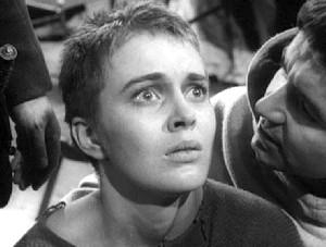 "Jean Seberg als Jeanne d'Arc in ""Die heilige Johanna"""